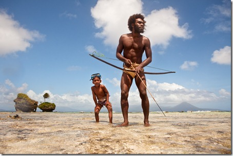 hunting-fish-with-a-bow-and-arrow-Rah-Lava-Banks-Islands